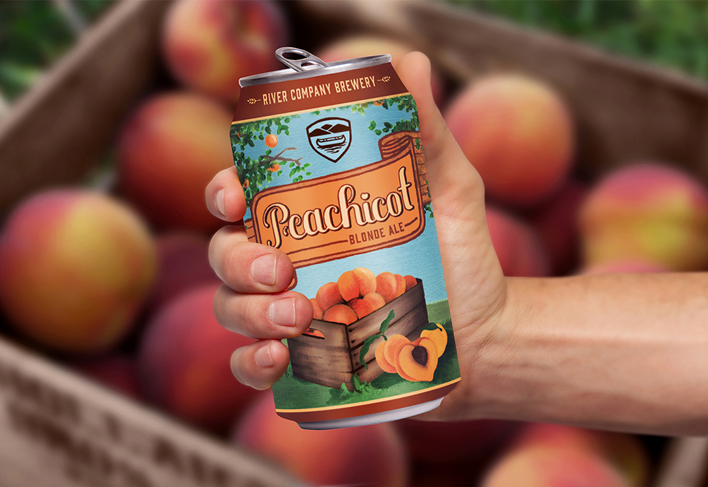Peachicot with hand